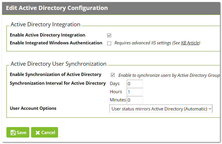 Setting Up Integrated Windows Authentication in Secret