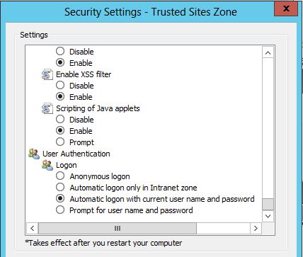 Setting up Integrated Windows Authentication - Legacy